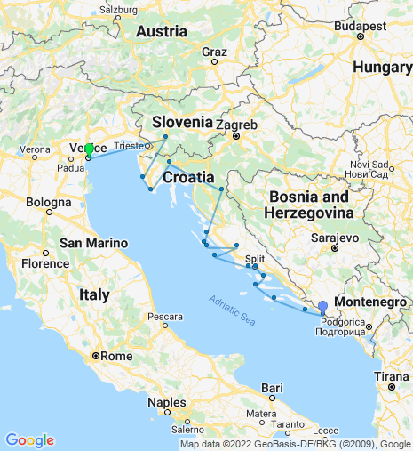 From Croatia to Italy Cruise & Stay