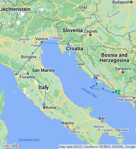 Italy to Dubrovnik Cruise & Stay