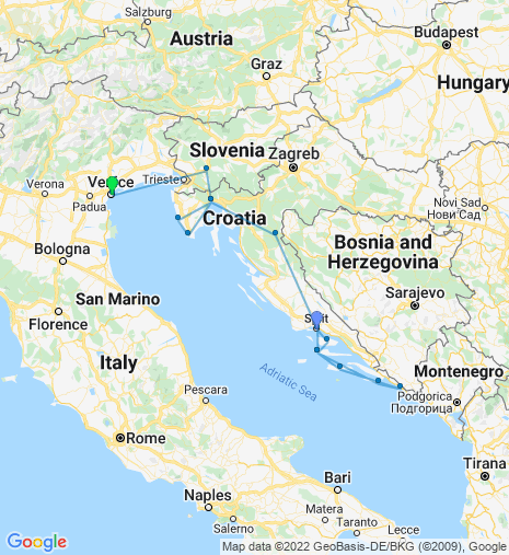 From Split to Venice Cruise & Stay