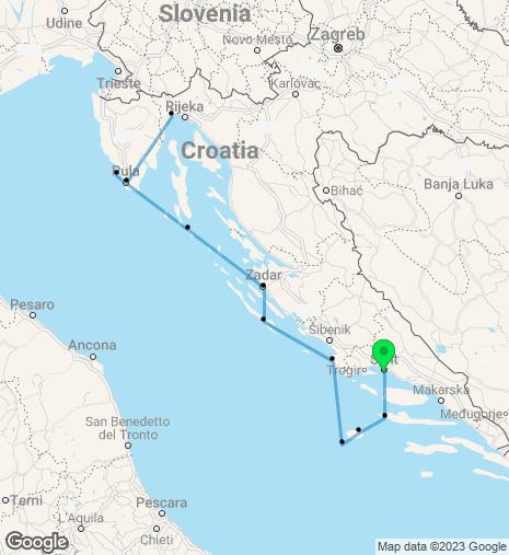 Breathtaking Croatia Cruise Split-Opatija