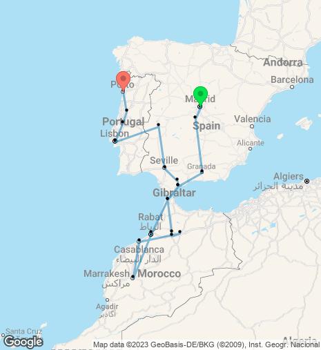 Portugal, Morocco & Spain
