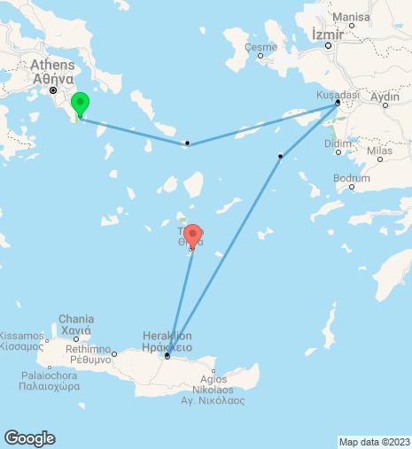 Taste of the Aegean Cruise Athens – Santorini