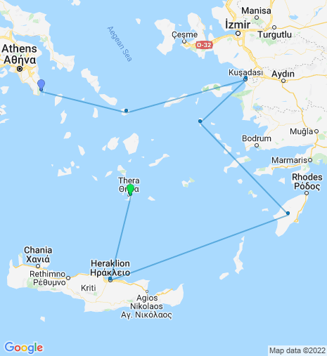 Greece and Turkey Cruise Athens – Santorini