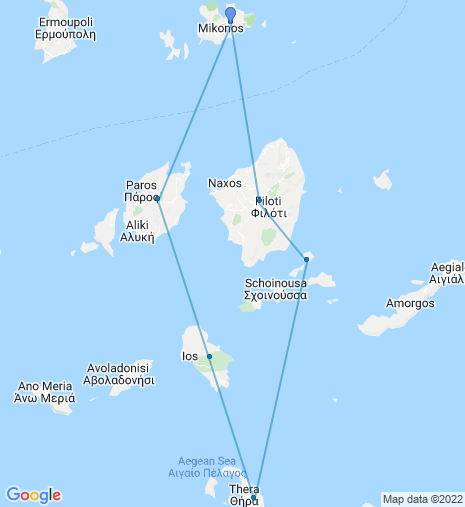 Cyclades Share a Sail (Route 1)